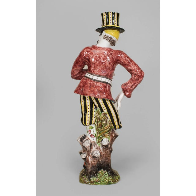 19th Century Italian Majolica Harlequins - Set of 2 For Sale In New York - Image 6 of 11