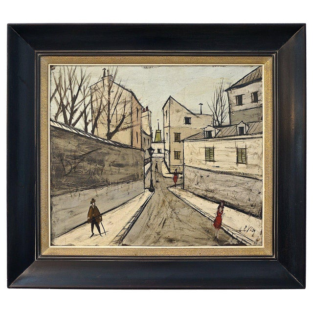 Mid-Century Oil Painting by French Artist Charles Levier For Sale - Image 11 of 11