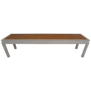 Mid-Century Modern Edward Wormley for Dunbar Coffee Table With Inset Cork Top For Sale