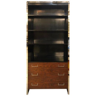 Milo Baughman for John Stuart Mid-Century Modern Bookcase Ebony and Rosewood For Sale
