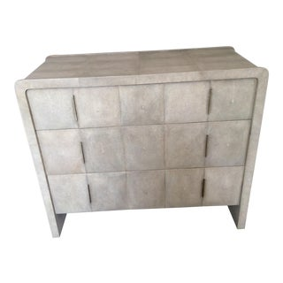 R & Y Augousti Natural Shagreen 3-Drawer Commode