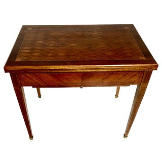 19th Century French Marquetry Kingwood & Brass Game Table