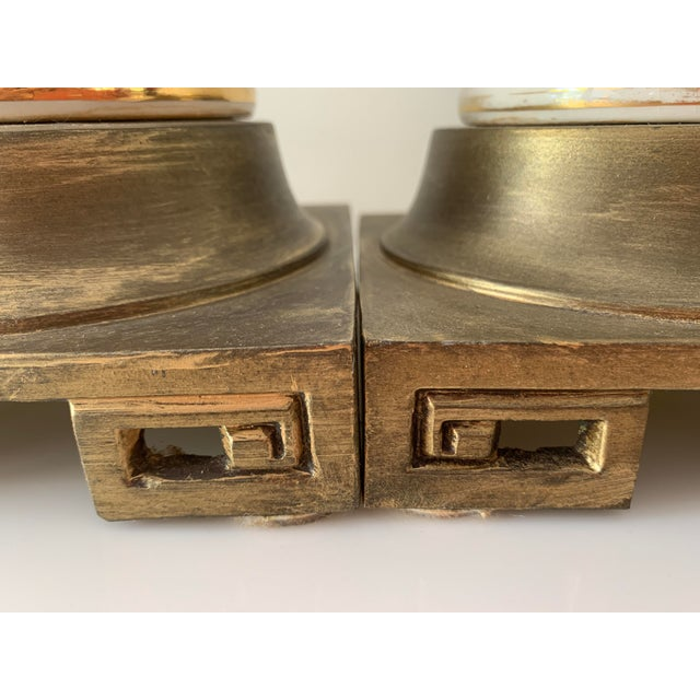 Regency Greek Key Table Lamps - a Pair For Sale - Image 10 of 12