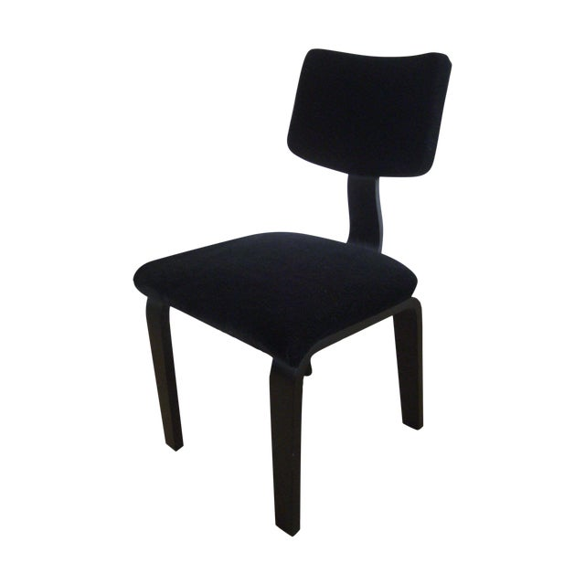 Vintage Black on Black Mohair Thonet Chair - Image 1 of 8