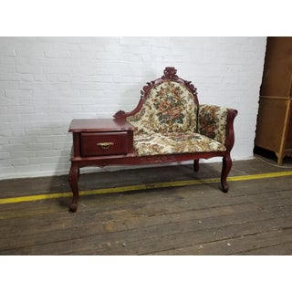 Vintage Victorian Style Gossip Telephone Bench Settee Preview