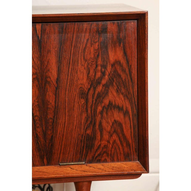Italian Mid Century Wood Bar/Media Cabinet For Sale In New York - Image 6 of 11