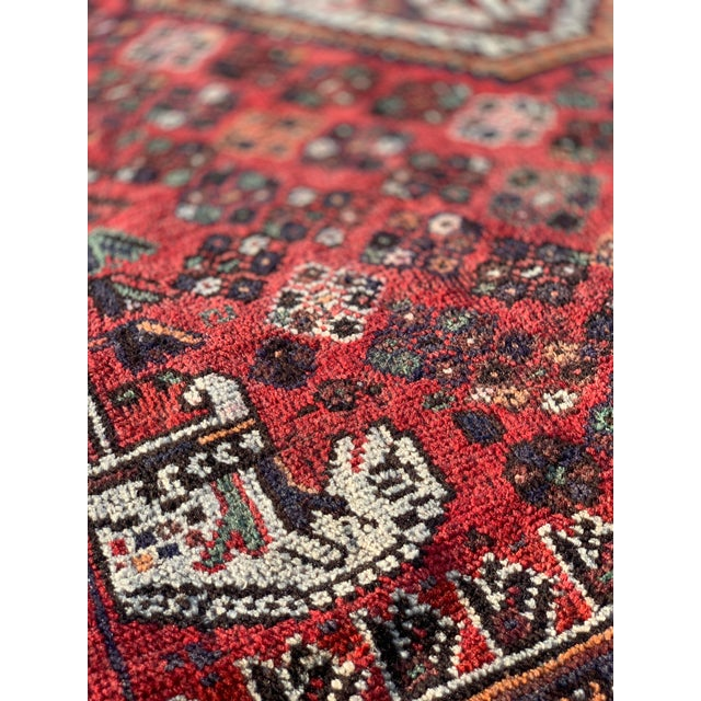1940s Vintage Persian Qasghi Rug - 5′1″ × 7′10″ For Sale In Atlanta - Image 6 of 13