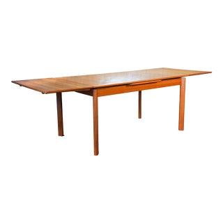 1970s Brdr Furbo Mid-Century Danish Extendable Teak Dining Table For Sale