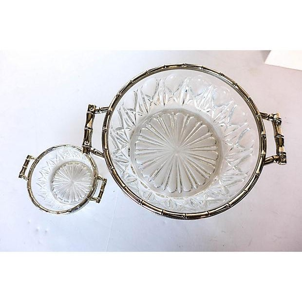 Bamboo Silver-Plate & Pressed Glass Set - Image 2 of 6