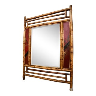 Vintage Bamboo Mirror For Sale