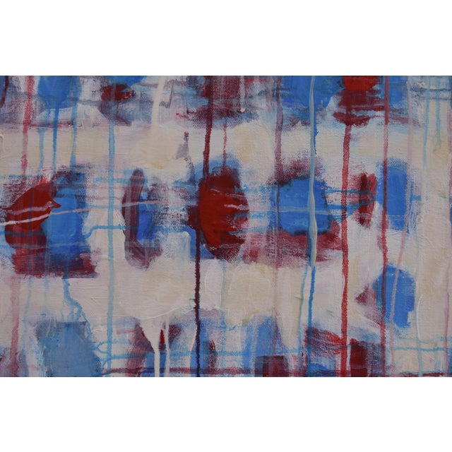 """Blue """"Borderline~Askew"""" Abstract Painting For Sale - Image 8 of 11"""