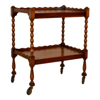 19th Century English Oak Drinks Cart For Sale