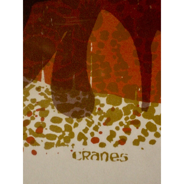 1971 Mid-Century Modern Print From David Weidman Cranes For Sale - Image 4 of 6