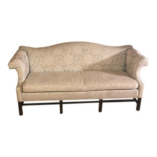 Ethan Allen Camelback Chippendale Sofa For Sale