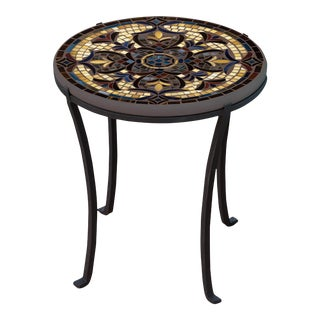 """Almirante 18"""" Chaise Table with Black Base For Sale"""