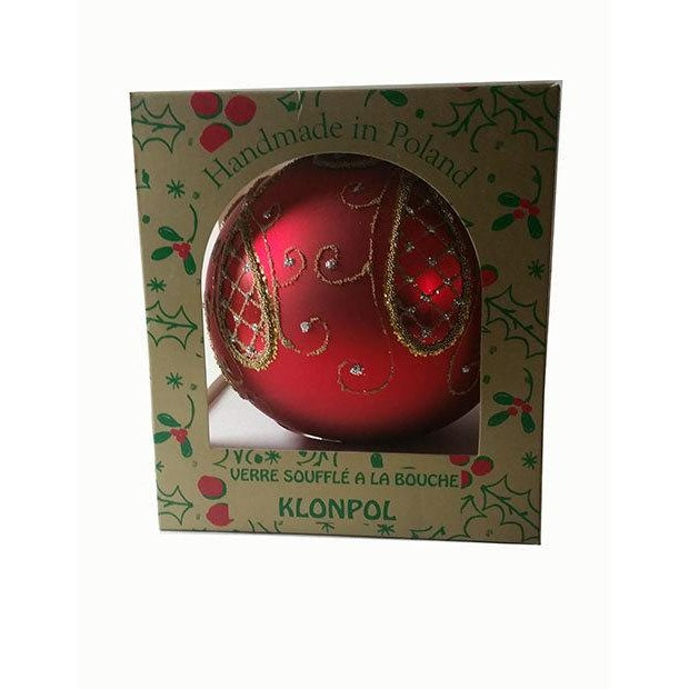Red and Gold Hand Made Polish Tree Ornament - Image 5 of 6