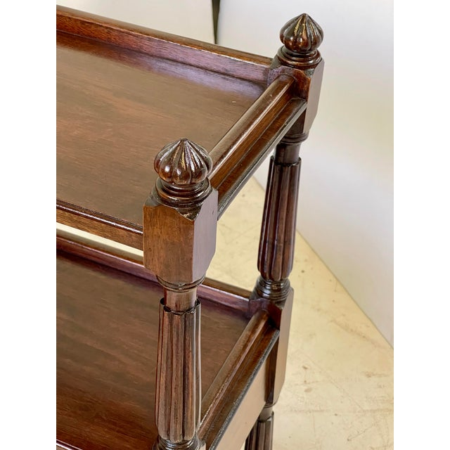 Brown English Regency Trolley of Mahogany For Sale - Image 8 of 13