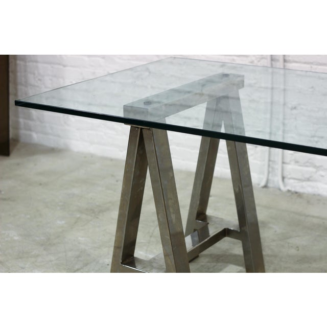 Mason Glass Top Desk by Williams-Sonoma Home - Image 4 of 5