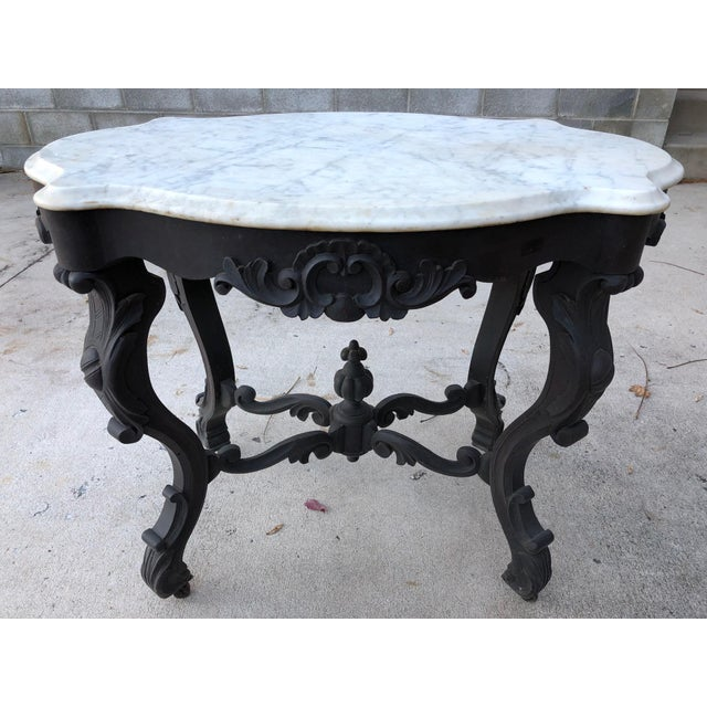 19th Century Traditional Marble Topped Table For Sale - Image 11 of 11
