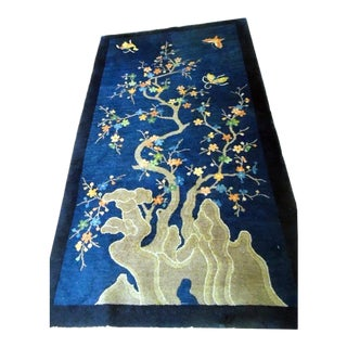 """1910s Antique Pictorial Chinese Peking Rug-3'6'x6'10"""" For Sale"""