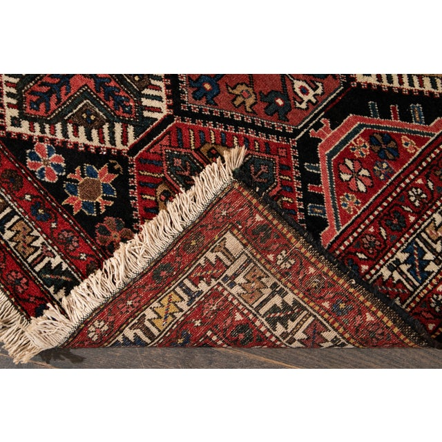 Traditional Vintage Bakhtiari Wool Rug 4'4'' X 7'2'' For Sale - Image 3 of 12