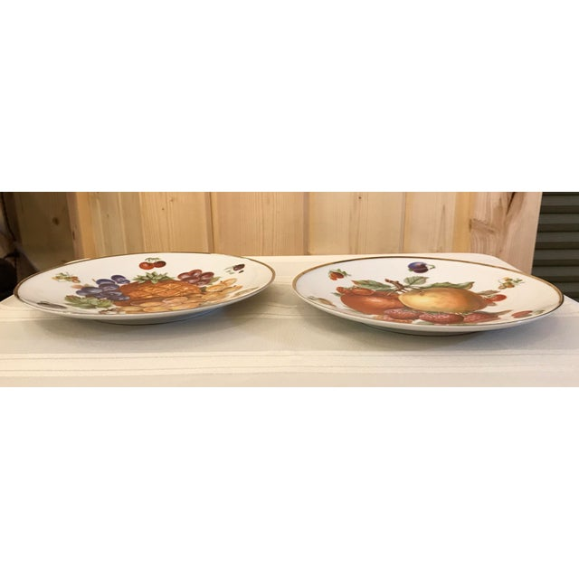 Cottage 1930's German Bavarian China Fruit Plates - a Pair For Sale - Image 3 of 6