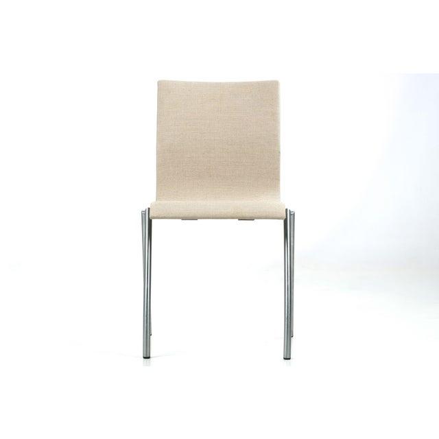 Danish Modern Brushed Steel Side Chair by Kvist - Image 3 of 11