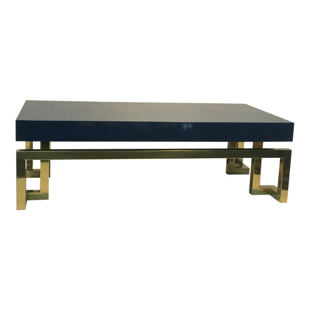 Exceptional Italian Coffee Table with Greek Key Design For Sale