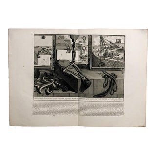 """Piranesi Engraving of """"The Construction Methods of the Tomb of Caecila Metellae"""" For Sale"""