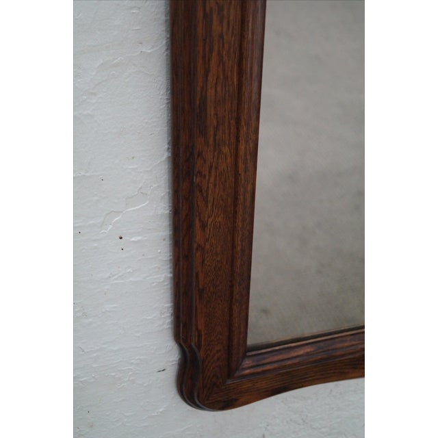 Solid Oak Frame French Country Style Wall Mirror For Sale - Image 7 of 10