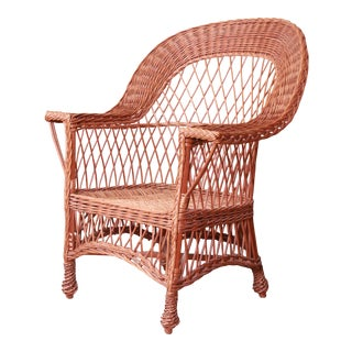Early Gustav Stickley Willow Armchair, Circa 1904 For Sale
