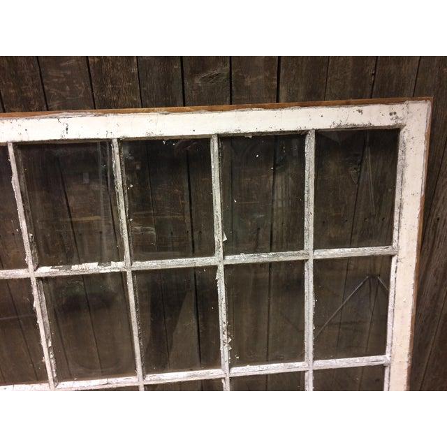 Vintage 24 Pane Wood Window - Image 4 of 11