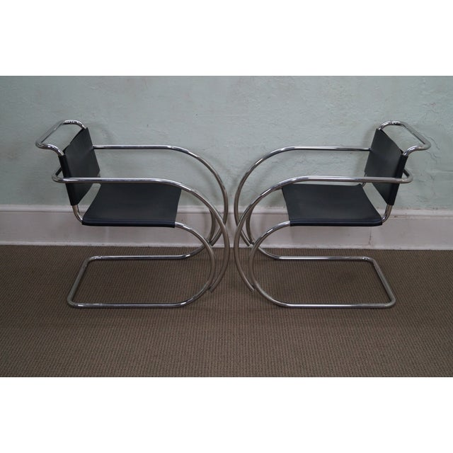 Knoll Ludwig Mies Van Der Rohe Chairs - Pair - Image 3 of 10