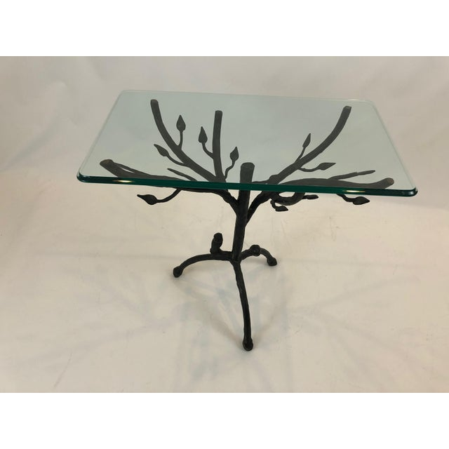 Metal Giacometti Style Iron Based Side Table For Sale - Image 7 of 7