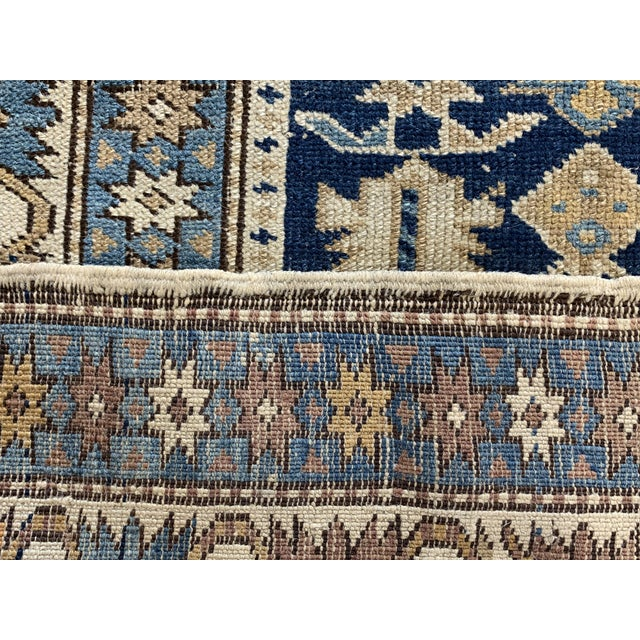 Textile Late 19th Century Antique Russian Caucasian Rug- 3′10″ × 5′3″ For Sale - Image 7 of 11