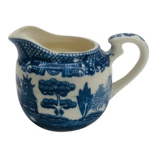 1950s Blue Willow Pattern Creamer For Sale