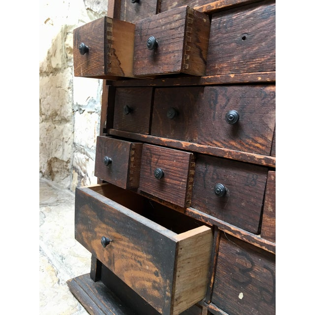 Metal 1920s Vintage Apothecary Cabinet For Sale - Image 7 of 9
