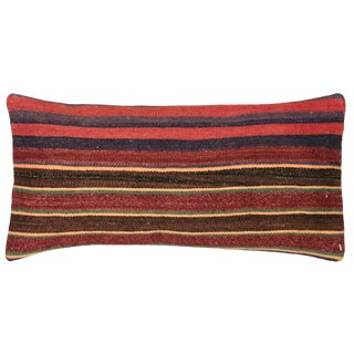 "Nalbandian - Turkish Kilim Lumbar Pillow - 8"" X 16"" For Sale"