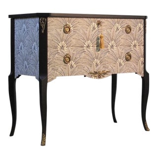 Brasilia Design Gustavian Louis XV Style Chest For Sale