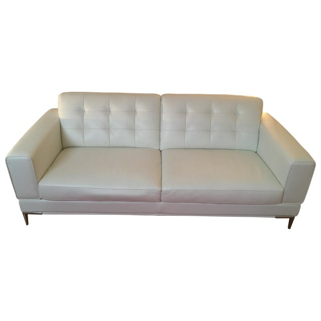Modani Bristol White Leather Couch - Image 1 of 5