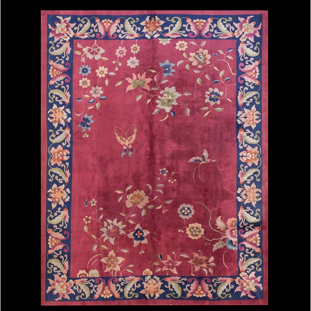 Textile Antique Chinese Art Deco Rug For Sale - Image 7 of 7