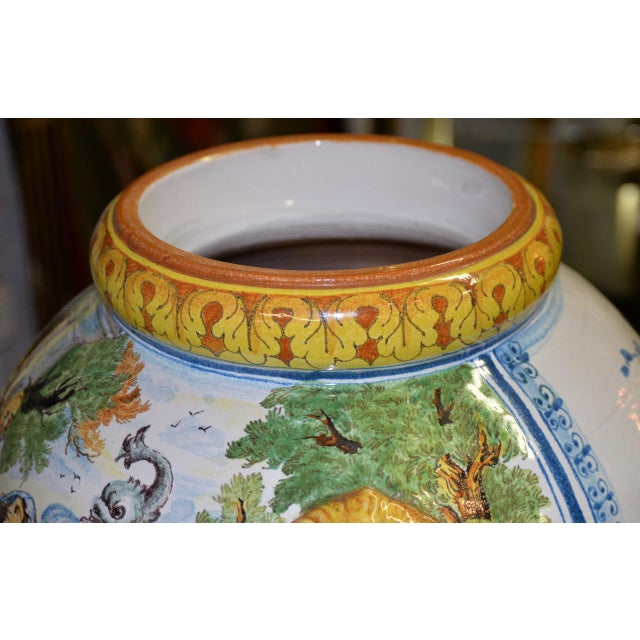 Mediterranean Mid 20th Century Hand Painted Portuguese Jardiniere C.1950 For Sale - Image 3 of 10