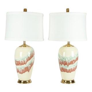 Vintage Porcelain Table Lamps - a Pair For Sale