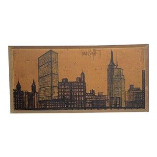 Vintage Mid-Century Bernard Buffet New York Skyline Signed Lithograph For Sale