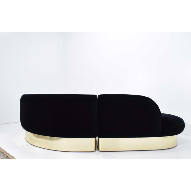 1970s Milo Baughman for Thayer Coggin Large Serpentine Sofa in Donghia Velvet For Sale - Image 5 of 13