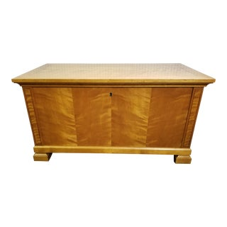 Antique Swedish Biedermeier Style Inlay Blanket Chest For Sale