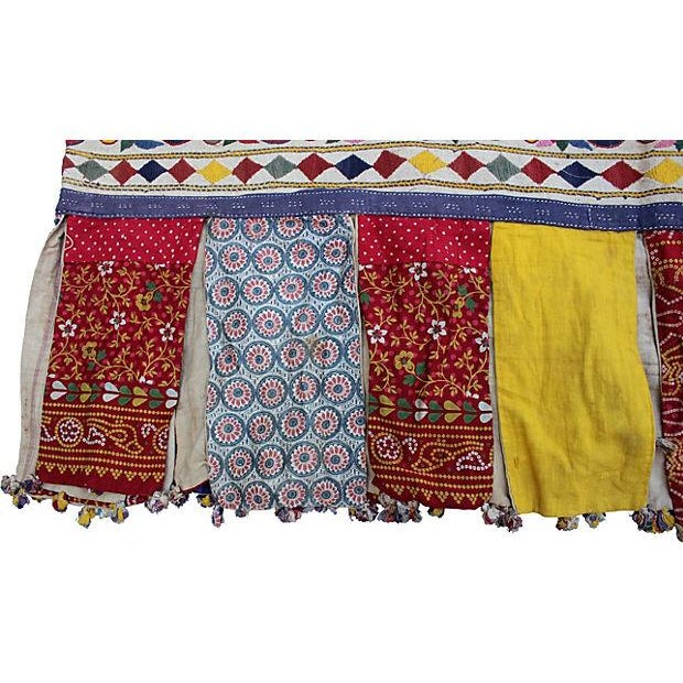 Embroidered Indian Tent Valance For Sale - Image 4 of 4