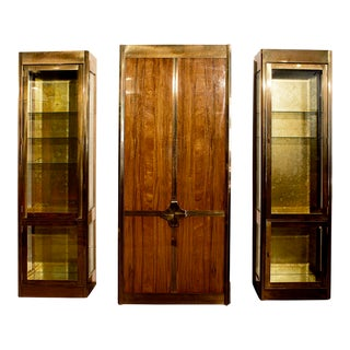 1982 Mastercraft Storage & Display Cabinet Trio - Set of 2