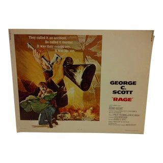 """Rage"" 1972 Vintage Movie Poster For Sale"