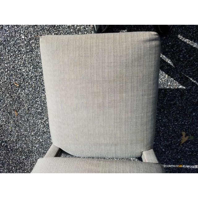 Style. Comfort. Versatility. Custom Gray Chairs. Original Boris Kroll Textured Weave Fabric (rayon, cotton, polyester &...